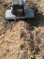 Rototilling Organic Matter and Fertilizer into Row