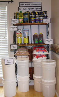 LDS - Mormon bulk food storage picture of one year supply