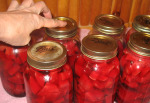 Canning Beets - checking lids for a seal