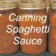 Canning Spaghetti Sauce