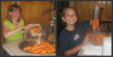 Canning Carrots - Chopping Carrots