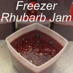 Freezer Rhubarb Jam