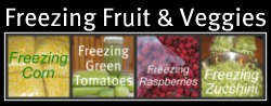 Freezing Vegetables and Fruit