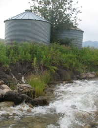 grain silos - food storage containers - storing grain
