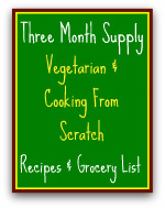 Meals Ready to Eat Vegetarian and Food Storage Recipes & Grocery list