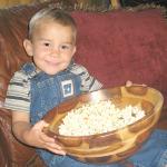 Child Eating Popcorn