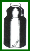 Water Pastuerization Indicator in Black Bottle