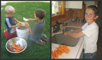 Canning Carrots - Washing Carrots