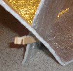 Solar Oven Fastened with Clothespin