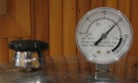 gauge up to pressure at 15 - Pressure Canner