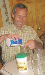 Canning Green Beans - Putting Salt in Bottles
