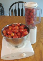 Blending Small Tomatoes