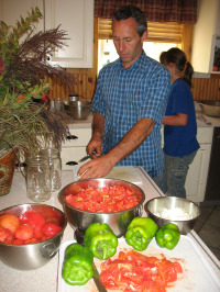 Chopping Vegetables for Spaghetti Sauce