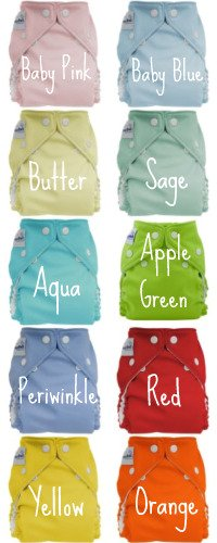 Cloth Baby Diapers Colors