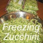 Freezing Zucchini Link