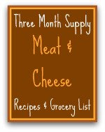 Meals Ready to Eat - Meat & Cheese Recipes Grocery List