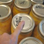 Checking Lid for a seal when canning peaches