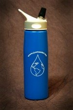 Water Bottle with Filter Blue