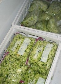 putting zucchini in freezer