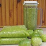 Green Tomato Puree - Freeze Tomatoes