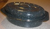 Solar Speckled Black Pot